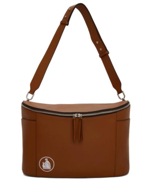 Lanvin brown large cooler bag, 60% off. US$1059 (was US$2648.25). PHOTO: Ssense