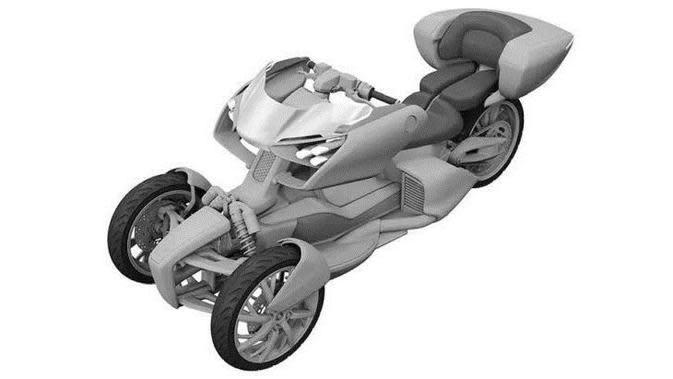 Penampakan Calon Motor Roda Tiga Terbaru Yamaha