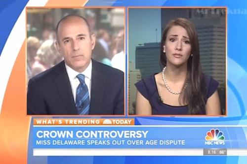 Matt Lauer Watches Helplessly as a Disqualified Beauty Queen Sobs on 'Today' (Video)