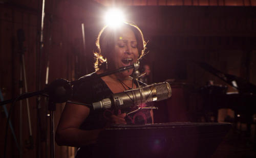 "This undated publicity photo released by Radius-TWC shows Darlene Love in a scene from the film, ""Twenty Feet From Stardom."" (AP Photo/Radius-TWC)"