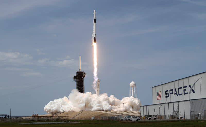 SpaceX Crew Dragon delivers two NASA astronauts to International Space Station