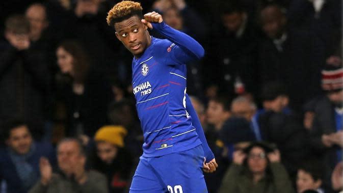 Striker Chelsea asal Inggris, Callum Hudson-Odoi. (AFP/Ian Kington)