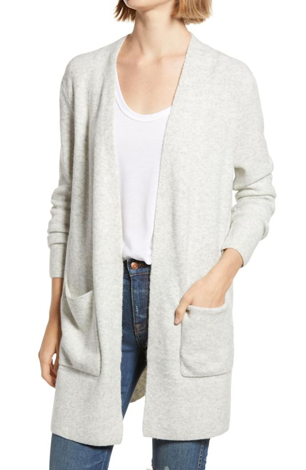 """<p><strong>MADEWELL</strong></p><p>nordstrom.com</p><p><strong>$59.90</strong></p><p><a href=""""https://go.redirectingat.com?id=74968X1596630&url=https%3A%2F%2Fwww.nordstrom.com%2Fs%2Fmadewell-kent-cardigan-sweater-regular-plus-size%2F4638250&sref=https%3A%2F%2Fwww.countryliving.com%2Fshopping%2Fg33623944%2Fnordstrom-anniversary-sale-2020%2F"""" target=""""_blank"""">Shop Now</a></p><p>Upgrade your daily WFH pajamas look with a cozy wool cardigan that's just as comfy.</p>"""