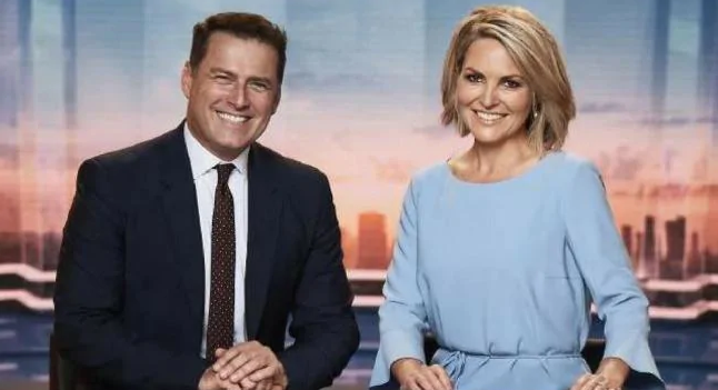 Karl finished off hosting the Today show with Georgie Gardner at the end of 2018. Photo: Channel Nine
