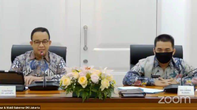(kiri) Gubernur DKI Jakarta, Anies Baswedan.