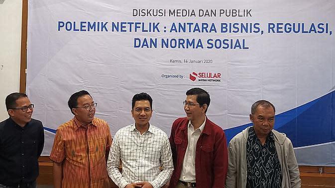 diskusi Polemik Netflix: Antara Bisnis, Regulasi, dan Norma Sosial di kawasan Jakarta, Kamis (16/1/2020).