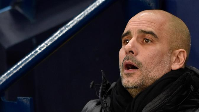 Manajer Manchester City, Pep Guardiola. (AP Photo/Rui Vieira)