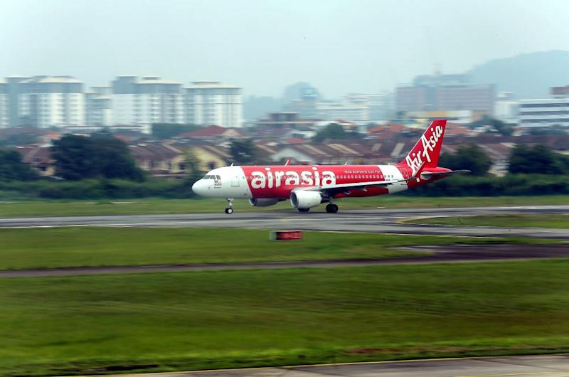 An AirAsia plane lands on the tarmac at the Sultan Azlan Shah airport in Ipoh October 1, 2018. — Picture by Farhan Najib