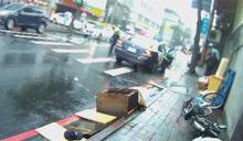不滿人行道垃圾太多 失業男怒將廢棄物丟馬路