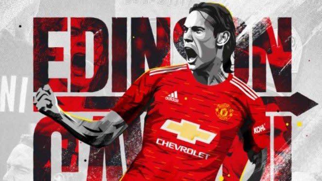 Manchester United resmi rekrut Edinson Cavani