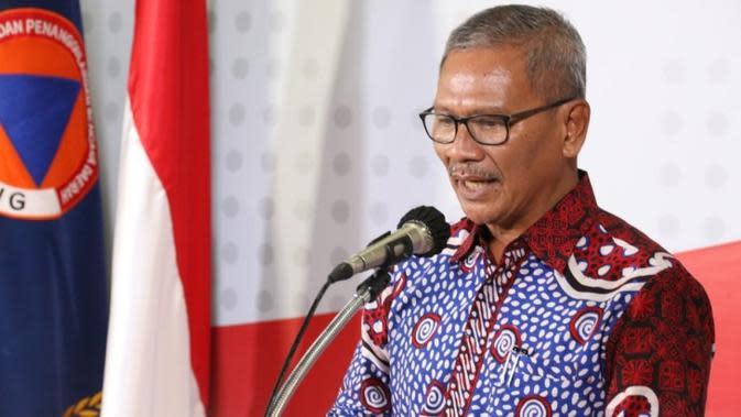 Juru Bicara Penanganan COVID-19 di Indonesia, Achmad Yurianto saat konferensi pers Corona di Graha BNPB, Jakarta, Selasa (31/3/2020). (Dok Badan Nasional Penanggulangan Bencana/BNPB)