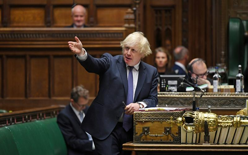 Boris Johnson hit out at China over the new security law, which makes political protest in Hong Kong an offence carrying a potential life prison term - Jessica Taylor /Reuters