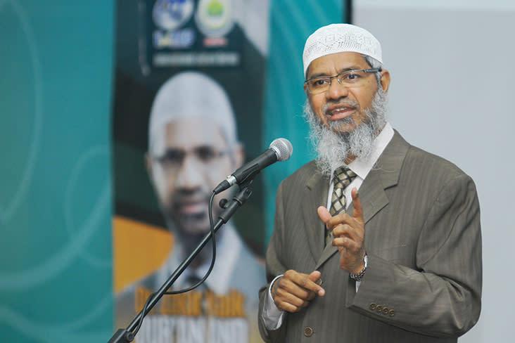The Mumbai-born Islamic evangelist triggered a firestorm nationwide following reports of his lecture in Kelantan last Saturday. — Bernama pic