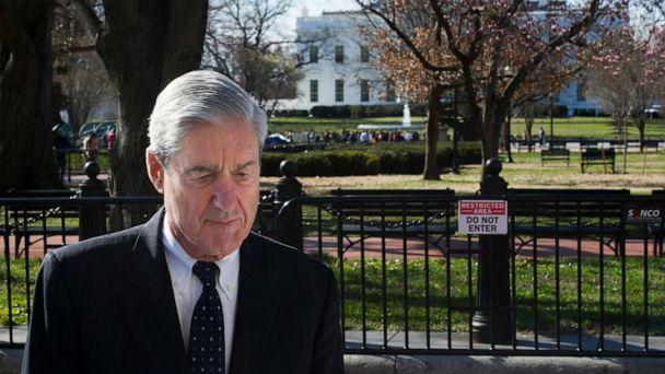 PHOTO: Special Counsel Robert Mueller walks past the White House after attending services at St. John's Episcopal Church, in Washington, March 24, 2019. (Cliff Owen/AP, FILE)