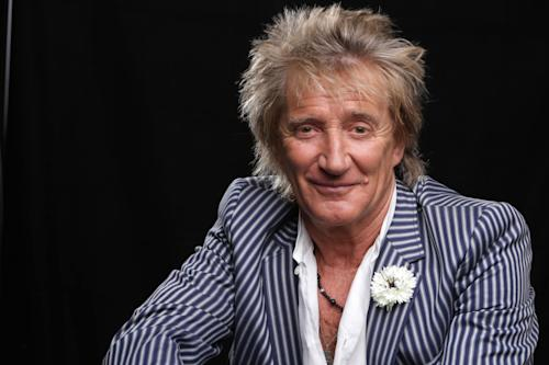 "In this Thursday, May 2, 2013 photo, singer Rod Stewart poses for a portrait in Los Angeles. His new album, ""Time,"" is out on Tuesday, May 7. (Photo by Eric Charbonneau/Invision/AP)"