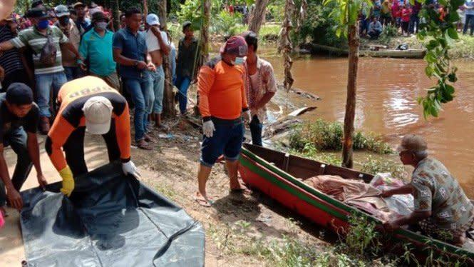 Petani Diterkam Buaya, Jasad Ditemukan Tanpa Kepala dan Dada