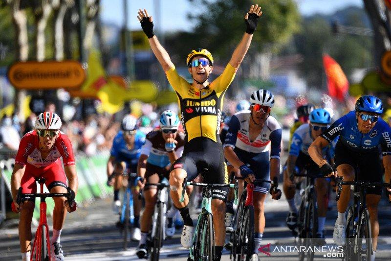 Wout van Aert menangi etape untuk kedua kalinya di Tour de France 2020