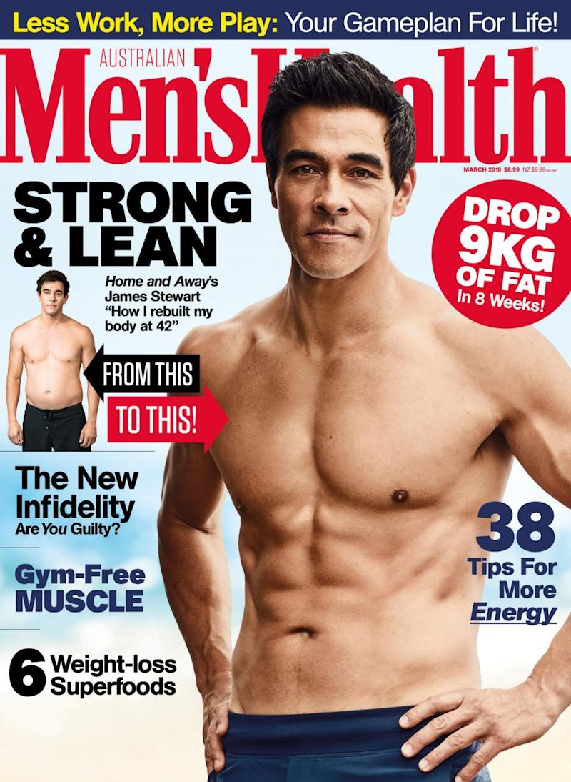 The Home and Away star reveals his full weight-loss jounrey in the March issue of Men's Health. Source: Men's Health