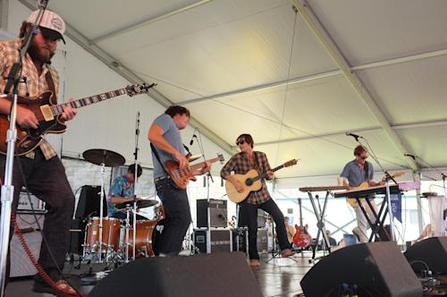 The Wheeler Brothers perform at the 54th edition of the Newport Folk Festival in Newport, R.I. on Sunday, July 28, 2013. (AP Photo/Joe Giblin)