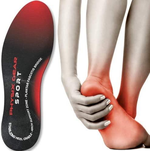 Physix Gear Sport Full Length Orthotic Inserts with Arch Support