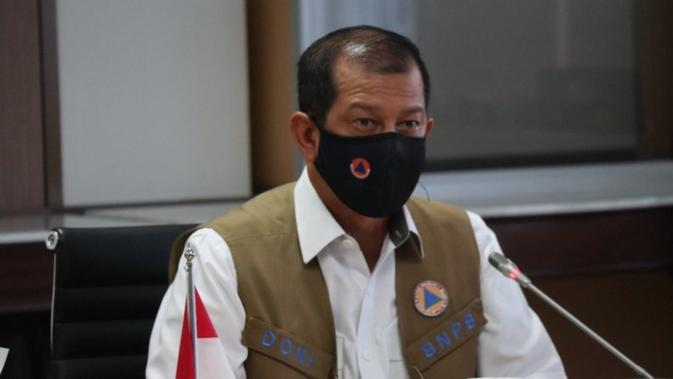 Kepala BNPB Doni Monardo menyatakan keberhasilan mendapatkan opini WTP tidak lepas dari dukungan seluruh unsur BNPB dan pendampingan BPK saat penandatanganan laporan hasil pemeriksaan kementerian/Lembaga di Jakarta, Kamis (23/7/2020). (Dok BNPB)