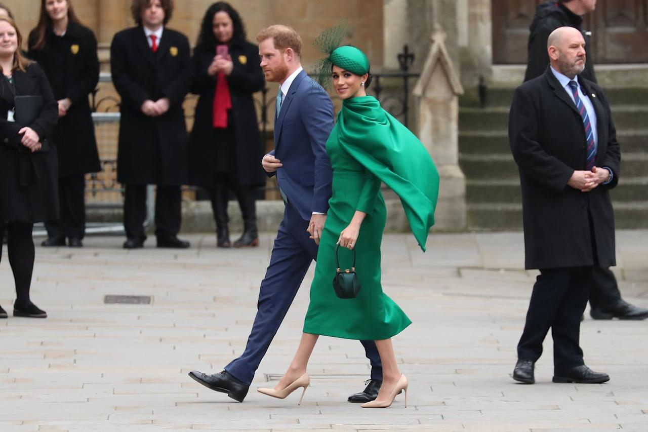<p>The Sussexes made a sartorial statement at their final public engagement before stepping back from their senior roles within the royal family. </p>