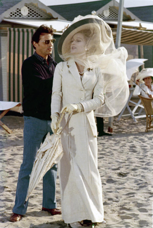 "This 1971 photo released by AMPAS and courtesy of the Fondazione Centro Sperimentale di Cinematografia shows Costume Designer, Piero Tosi, left, and Silvana Mangano during production of the film, ""Death in Venice."" The Board of Governors of the Academy of Motion Picture Arts and Sciences will present Honorary Awards to Angela Lansbury, Steve Martin and Tosi, and the Jean Hersholt Humanitarian Award to Angelina Jolie. All four awards will be presented at the Academy's 5th Annual Governors Awards on Saturday, November 16, 2013, at the Ray Dolby Ballroom at the Hollywood & Highland Center in the Hollywood section of Los Angeles. (AP Photo/A.M.P.A.S./Fondazione Centro Sperimentale di Cinematografia)"