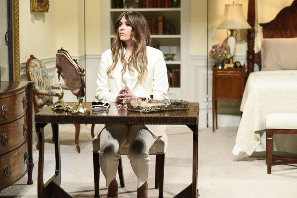 PHOTO: SATURDAY NIGHT LIVE -- Episode 1738 'Natalie Portman' -- Pictured: Cecily Strong as Melania Trump during 'First Lady' sketch in Studio 8H on Saturday, February 3, 2018. (Will Heath/NBC)