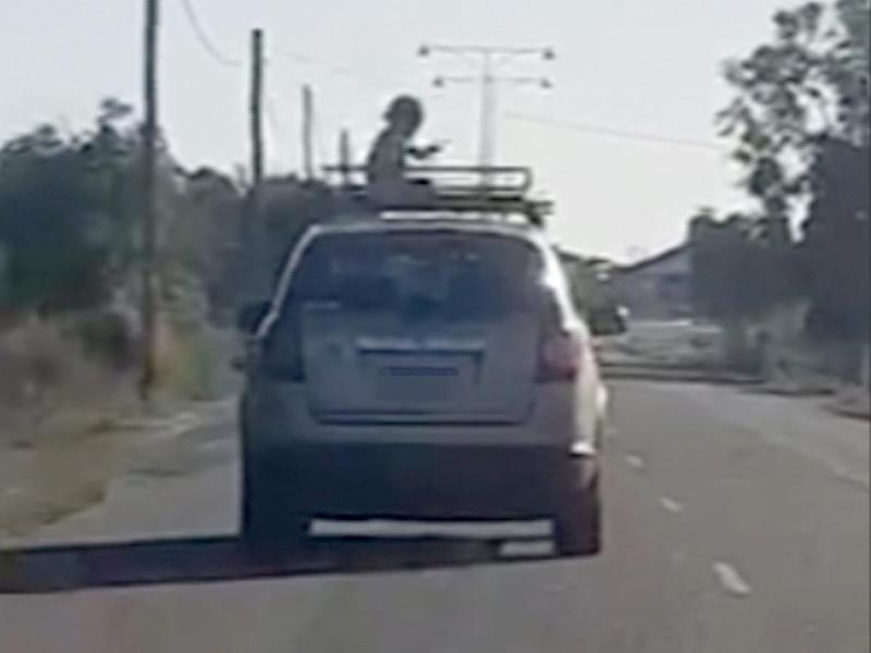 Perth boy, 4, filmed riding on roof of moving car