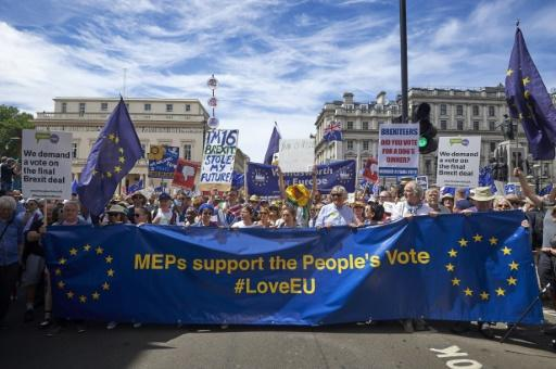 """Anti-Brexit campaigners are demanding a """"people's vote"""" on whether to approve any final deal on Britain's divorce from the EU"""
