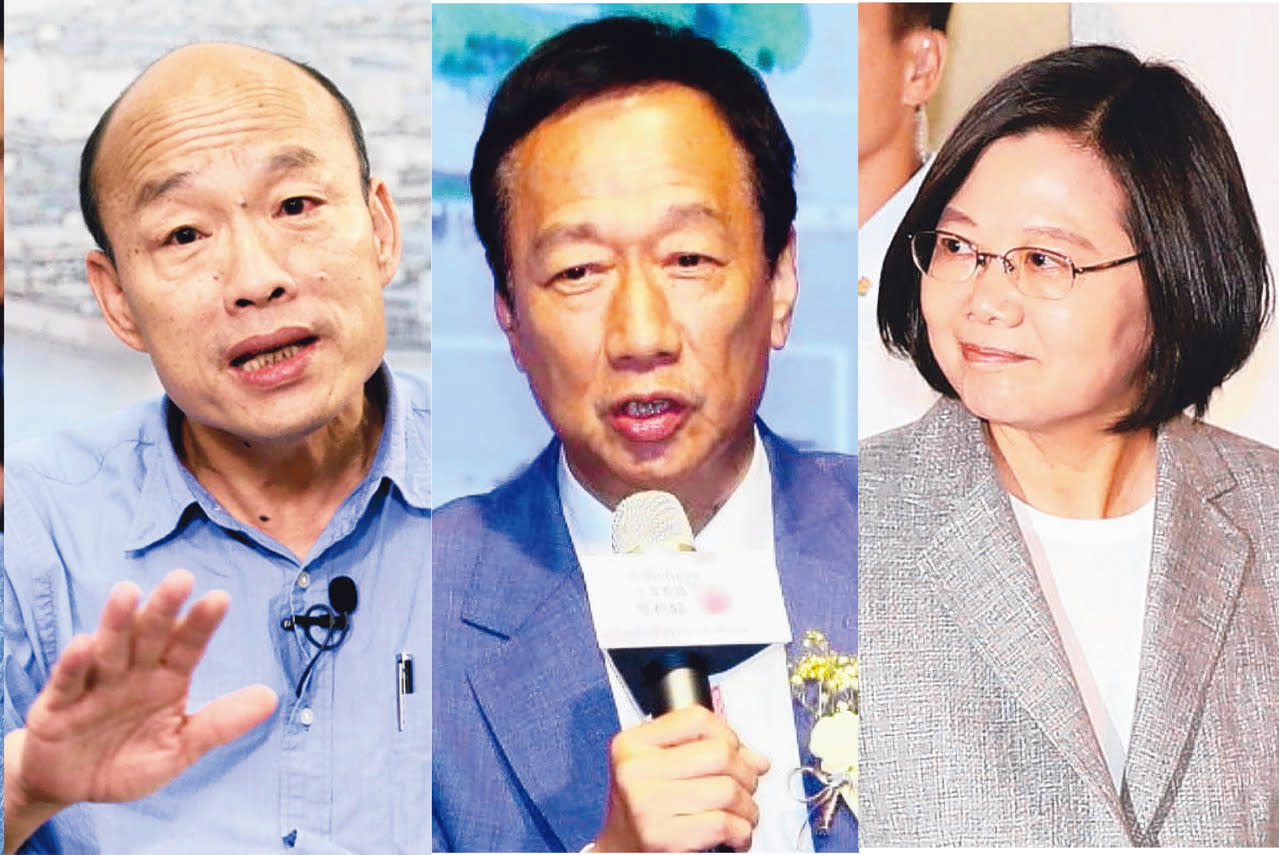 郭台銘、蔡英文、韓國瑜,你看好誰勝選?