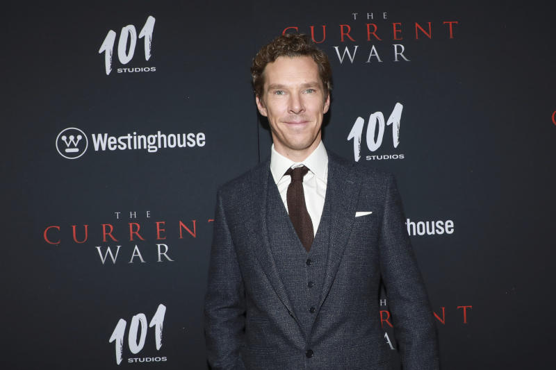 """Benedict Cumberbatch attends the NY Premiere of """"The Current War: Director's Cut"""" on Monday, Oct. 21, 2019. (Photo by Jason Mendez/Invision/AP)"""