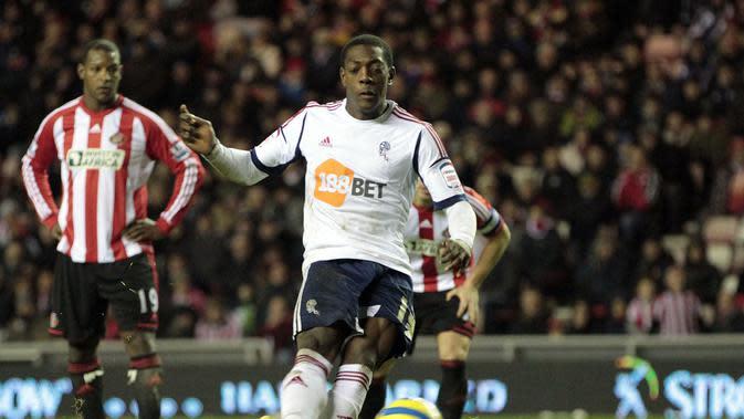 Marvin Sordell saat masih memperkuat Bolton Wanderers (AFP/Graham Stuart)