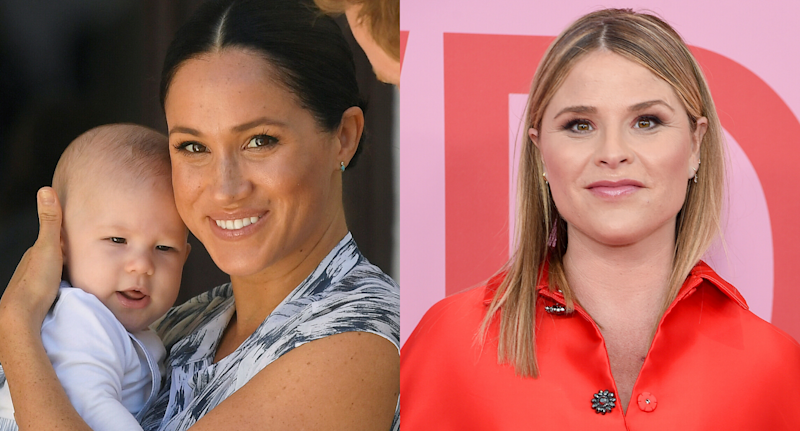 Meghan, Duchess of Sussex and Jenna Bush Hager. Images via Getty Images.