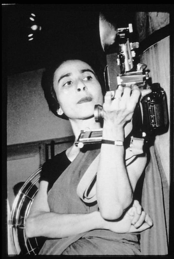 Homai Vyarawalla with her Camera