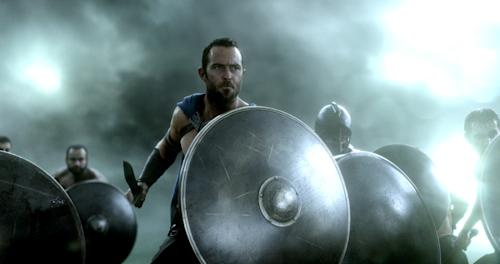 """This image released by Warner Bros. Pictures shows Sullivan Stapleton in the film, """"300: Rise of an Empire."""" (AP Photo/Warner Bros. Pictures)"""
