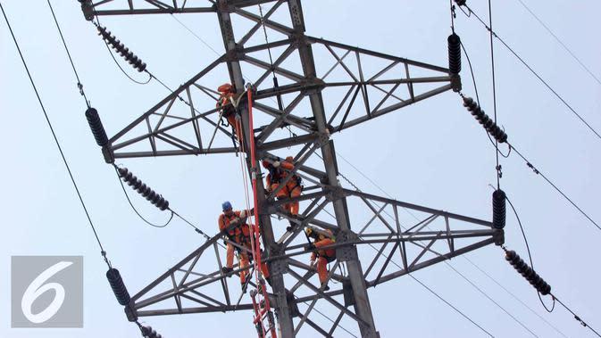 Ilustrasi sutet listrik.