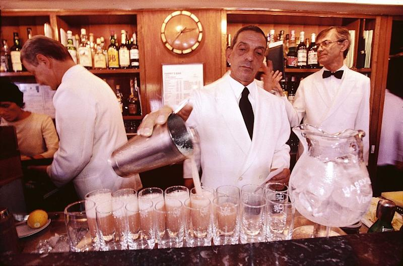 Harry's Bar, serving its signature cocktail, the Bellini - getty
