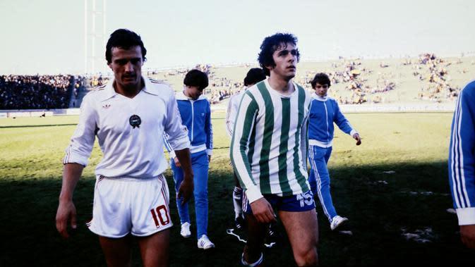 Michel Platini memperkuat Timnas Prancis melawan Hungaria di Piala Dunia 1978. (AFP)