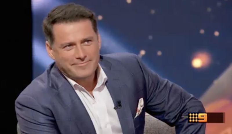 Former Today show host Karl Stefanovic returned to television on Monday August 12 on Channel Nine show This Time Next Year.