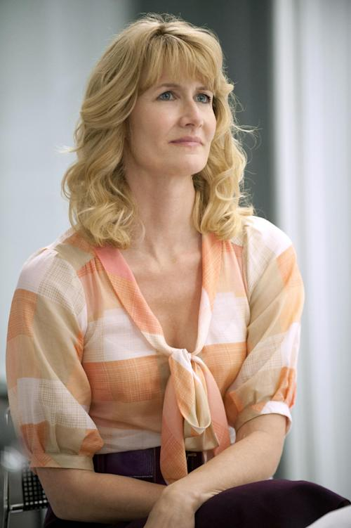 "This publicity image released by HBO shows Laura Dern in ""Enlightened."" Dern was nominated for an Emmy Award for best actress in a comedy series on, Thursday July 18, 2013. The Academy of Television Arts & Sciences' Emmy ceremony will be hosted by Neil Patrick Harris. It will air Sept. 22 on CBS. (AP Photo/HBO, Lacey Terrell)"