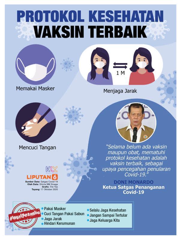 Infografis Protokol Kesehatan Vaksin Terbaik (Liputan6.com/Triyasni)