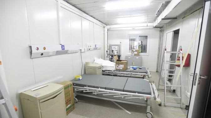 Penampilan RS Huoshenshan di kota Wuhan khusus pasien virus Corona. Dok: AP