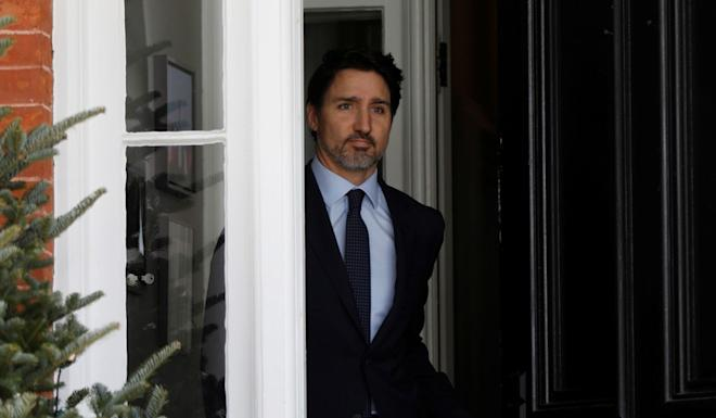 Prime Minister Justin Trudeau leaves Rideau Cottage to deliver an address to the nation in Ottawa on Friday. Photo: Reuters