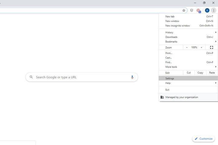 Image of Google Chrome Settings