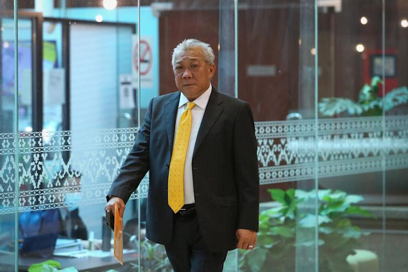 Kinabatangan MP Datuk Seri Bung Moktar Radin is pictured at Parliament in Kuala Lumpur July 20, 2020. — Picture by Yusof Mat Isa