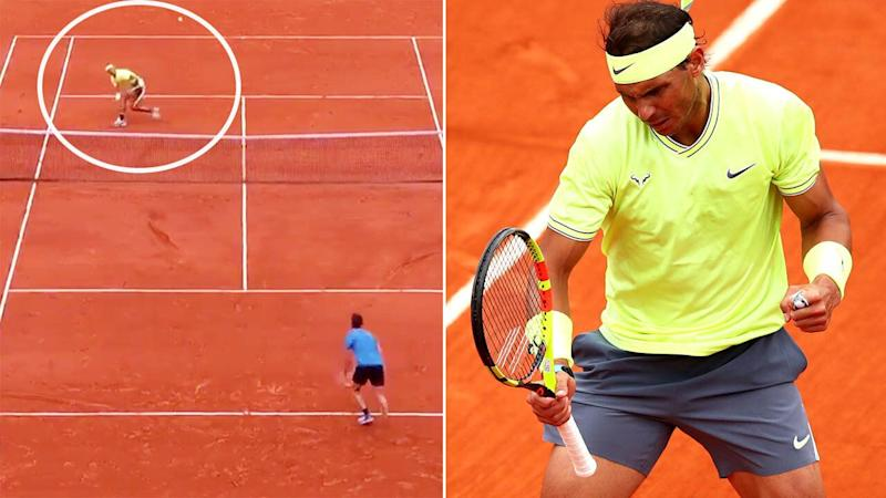 How did Rafael Nadal pull this off? Image: Tennis Channel/Getty