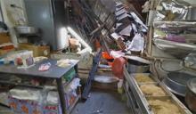 嘉義市東市場頂樓磚牆崩塌!老闆頭破血流