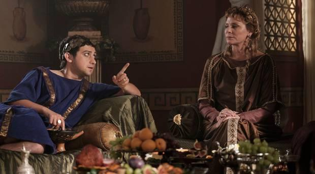 Craig Roberts and Kim Cattrall in Horrible Histories (Altitude Films)