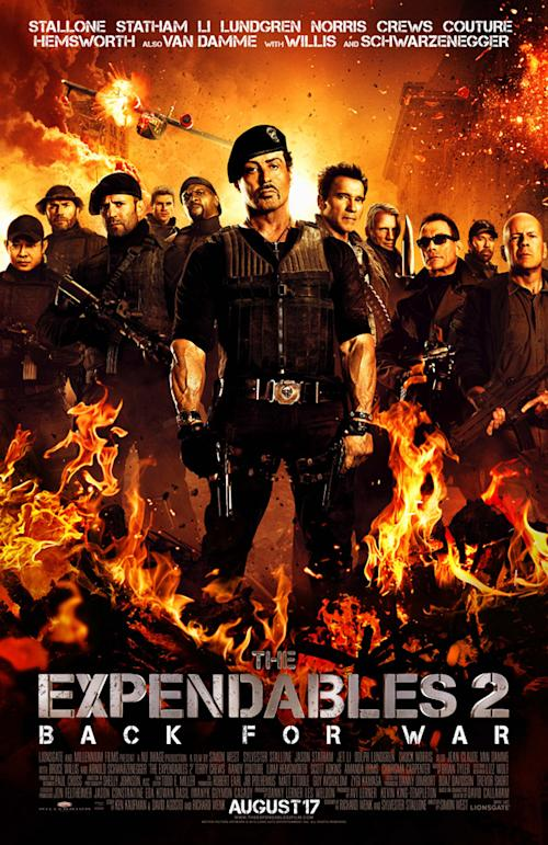Exclusive: 'Expendables 2′ poster reveals 573 years of action expertise